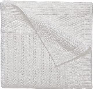 Elegant Baby Premium 100% Cotton Knit Blanket, Cream Texture Knit, 30