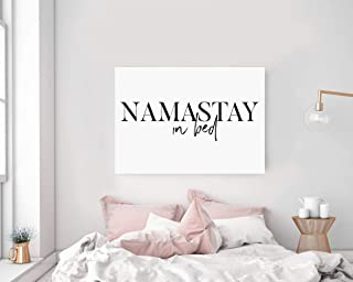TimPrint Namastay in Bed Wall Art Namaste in Bed Print Bedroom Decor Bedroom Yoga Decor Bedroom Above Bed Decor Modern Wall Art Framed Print Wall Art