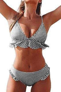 Women's Rambling Rose High-Waisted Push Up Bikini Set