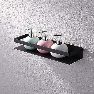KES Bathroom Shelf Stainless Steel Bath Shower Shelf Basket Caddy RUSTPROOF Square Modern Style Wall Mounted Matte Black, BSC205S40A-BK