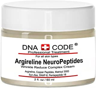 DNA Code-No Needle Alternative-Argireline NeuroPeptides Wrinkle Reduce Cream w/Matrixyl 3000, Syn-Ake, SNAP-8, Copper Peptides