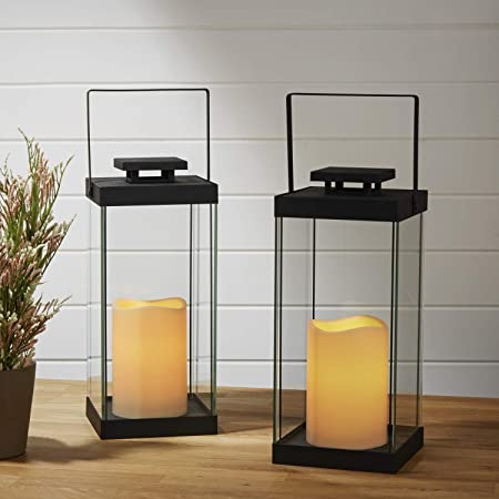 10 White Battery Operated LED Flameless Candle Lantern for Indoor /& Outdoor Use Lights4fun Inc