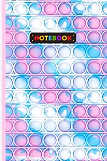 Notebook: Pop it notebook - homework / daily gift, 100 pages, 6 x 9, soft cover, matte finish/gift for women, girls, boys,...