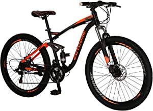 """Eurobike OBK E7 Mountain Bike 21 Speed Bicycle 27.5"""" Full Suspension Mens Bikes Daul Disc Brakes MTB"""