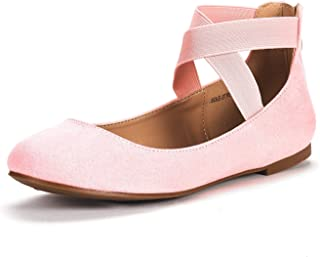 83a64613725e DREAM PAIRS Women s Sole Stretchy Fashion Elastic Ankle Straps Flats Shoes