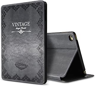 iPad Mini 1 2 3 Retro Vintage Flip Stand Smart Stand Case, Miniko(TM) Luxury Retro Ancient Vintage Old Book Style PU Leather Case Magnetic Stand Smart Cover for iPad Mini 1 2 3 ShockProof Gray