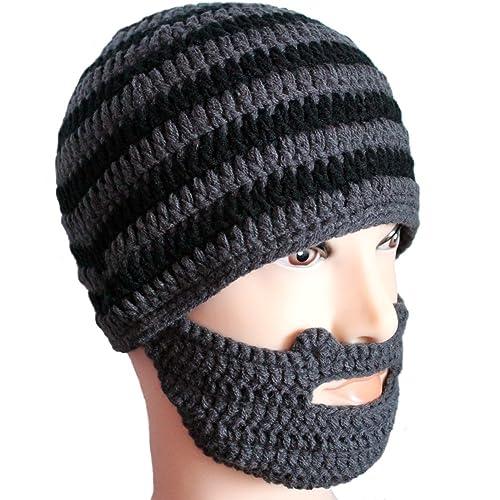 a21db989a00 LSERVER Winter Warm Beanie Funny Balaclavas Unisex Knit Beard Octopus Hat