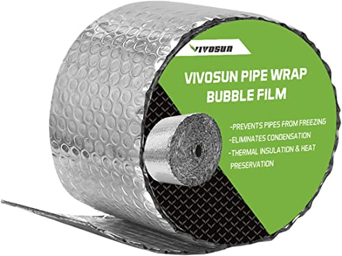 new arrival VIVOSUN Insulated Spiral Pipe Wrap Insulation popular Bubble Film 6-Inch by popular 25-Feet outlet sale