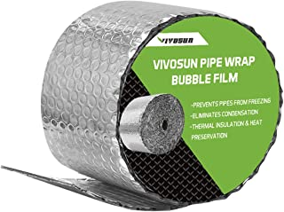 VIVOSUN Insulated Spiral Pipe Wrap Insulation Bubble Film 6-Inch by 25-Feet