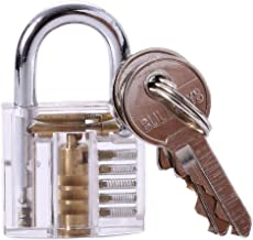 Happy Will Crystal Professional Visible Cutaway of Padlocks Lock for Locksmith / Hobbyist