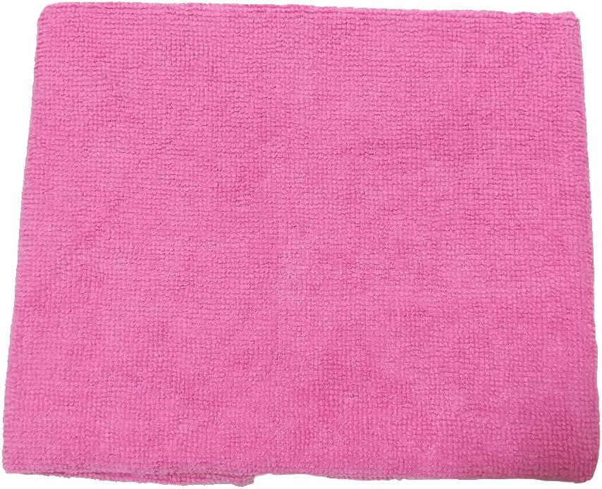 (Pink) Microfiber Cleaning Cloth, Size 40x33cm (15.7