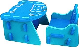 meiqicool Juego de Mesa y Silla de Puzzle de EVA para niños