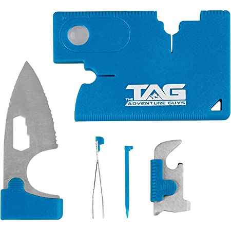 The Adventure Guys Credit Card Multitool - 10 in 1 Wallet Multitool Card - The Best Stocking Stuffer For Men EVER - Credit Card Tool With Wallet Knife - Premium Wallet Tool Card For Men