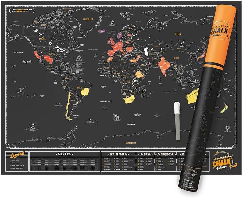 Luckies of London Chalk Edition Mapa Scratch, Multicolor, 59.4 x 0.3 x 82.6 cm