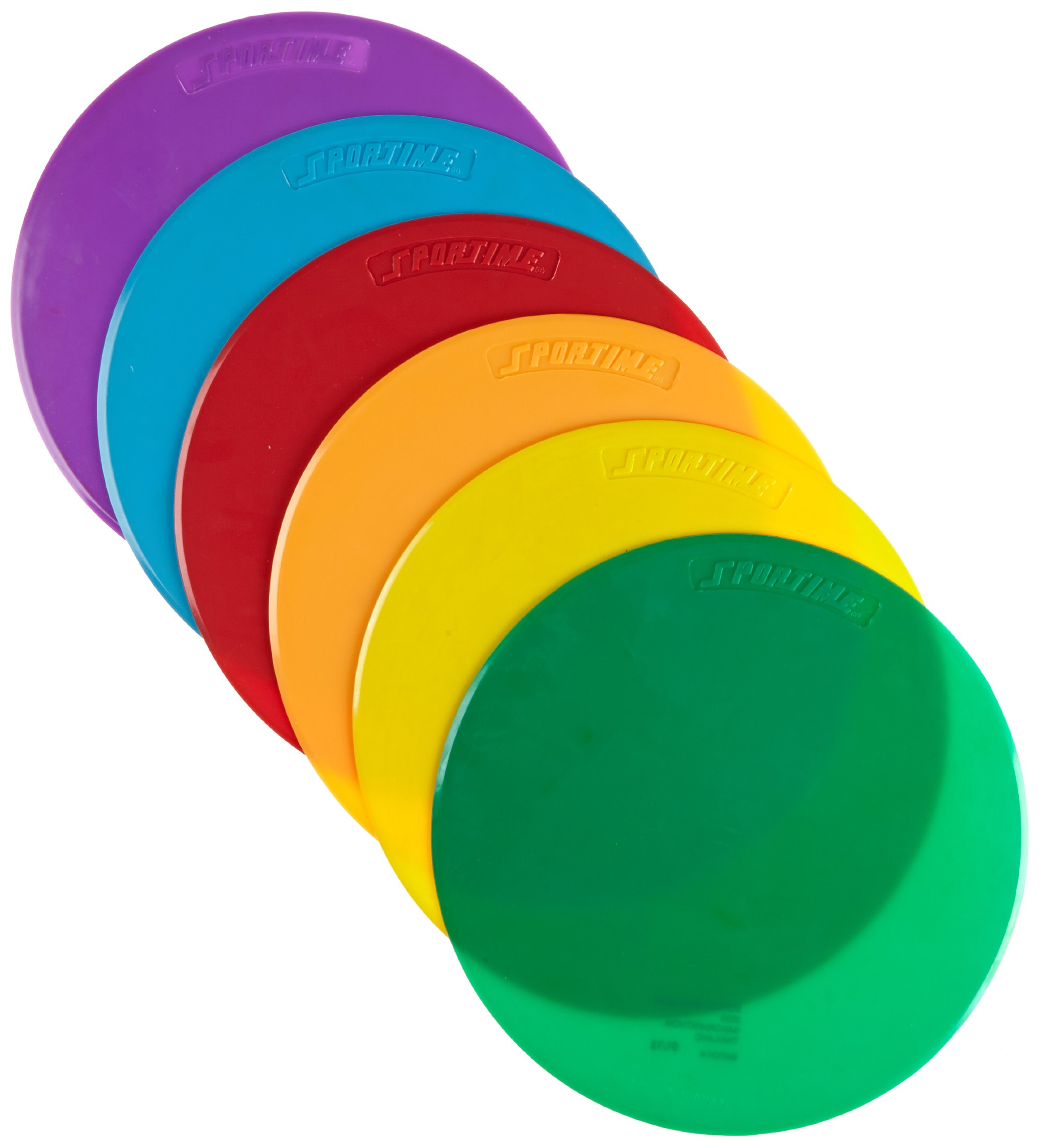 School Smart 1005401 Spot Markers - 10 Diameter - Set of 6 - Assorted Colors