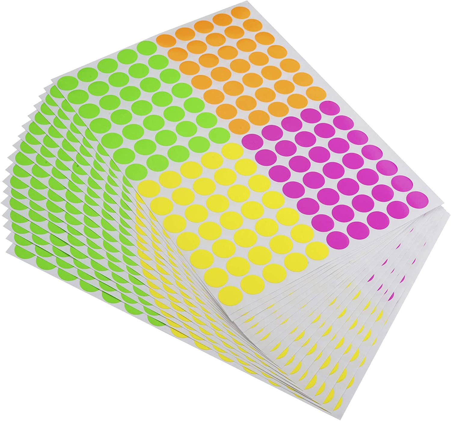 ONUPGO Pack of 2240 Round Color Dot Labels Circle Ranking Year-end annual account integrated 1st place Coding Sticker