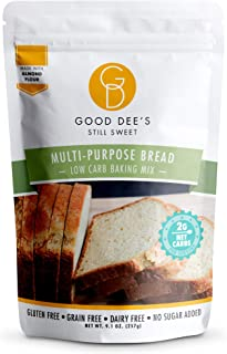 Good Dee's Multi-Purpose Bread Mix - Low Carb Keto Baking Mix (2g Net Carbs, 12 Servings) | Gluten-Free, Sugar-Free, Grain...