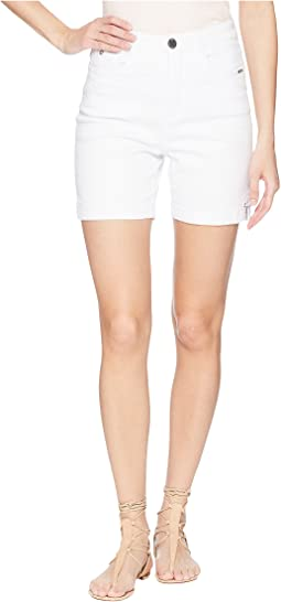 Sunset Hues Suzanne Shorts in White