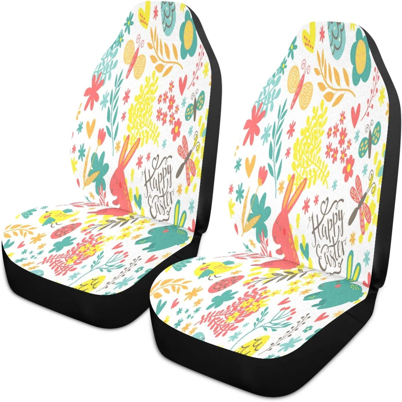 Nander Easter Colorful Eggs Rabbit Genuine Free Challenge the lowest price of Japan ☆ Shipping Heart Seat Covers In Car Easy