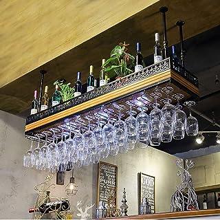 YZ-YUAN Supports à vin de Plafond de Hauteur réglable durables Bar Butler Distributeur de vin Vintage Porte-Bouteille de v...