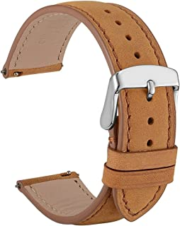 WOCCI Quick Release Watch Band 18mm 20mm 22mm - Suede Vintage Leather Strap for Men or Women