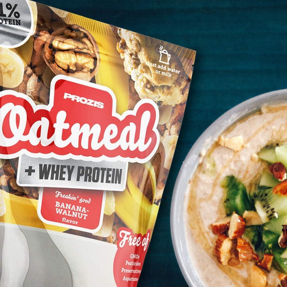 Prozis Oatmeal con Whey Protein 1000g - Cereales Repletos de Hidratos de Carbono de Alta Calidad y Fibras Saciantes -Sabor Pastelito de limón -Apto ...