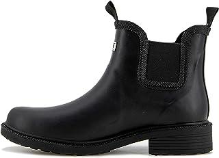 JBU by Jambu Women's Chelsea RAIN Boot Waterproof Ankle, Black, 6