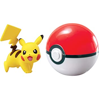 Pok/émon Clip /& Carry Pok/é Ball Pikachu And Pok/é Ball Pokemon B00SW0XA3E-Parent