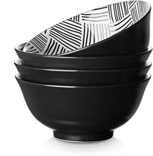 glossy black and brown various handmade ceramic cerealsouprice bowls