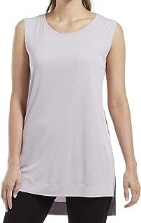 Women's Hi-Low Hem Sleeveless Long Tunic Top