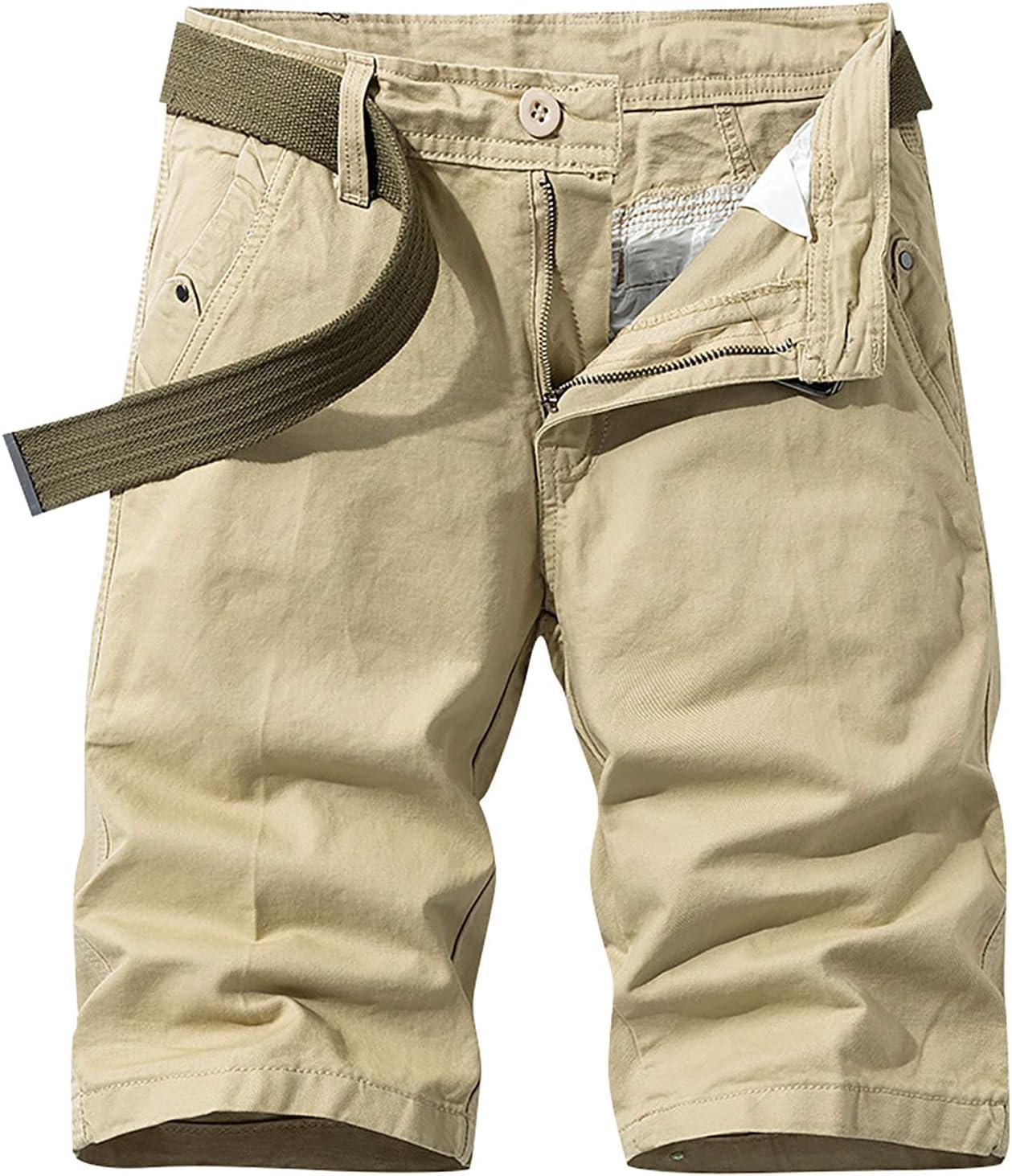Navyoom Men's Casual Cargo Shorts, Quick Dry Workout Jogger Boardshorts, Loose Fit Half Pant Working Basic Shorts