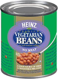 Heinz Vegetarian Beans in Rich Tomato Sauce (8 oz Cans, Pack of 24)