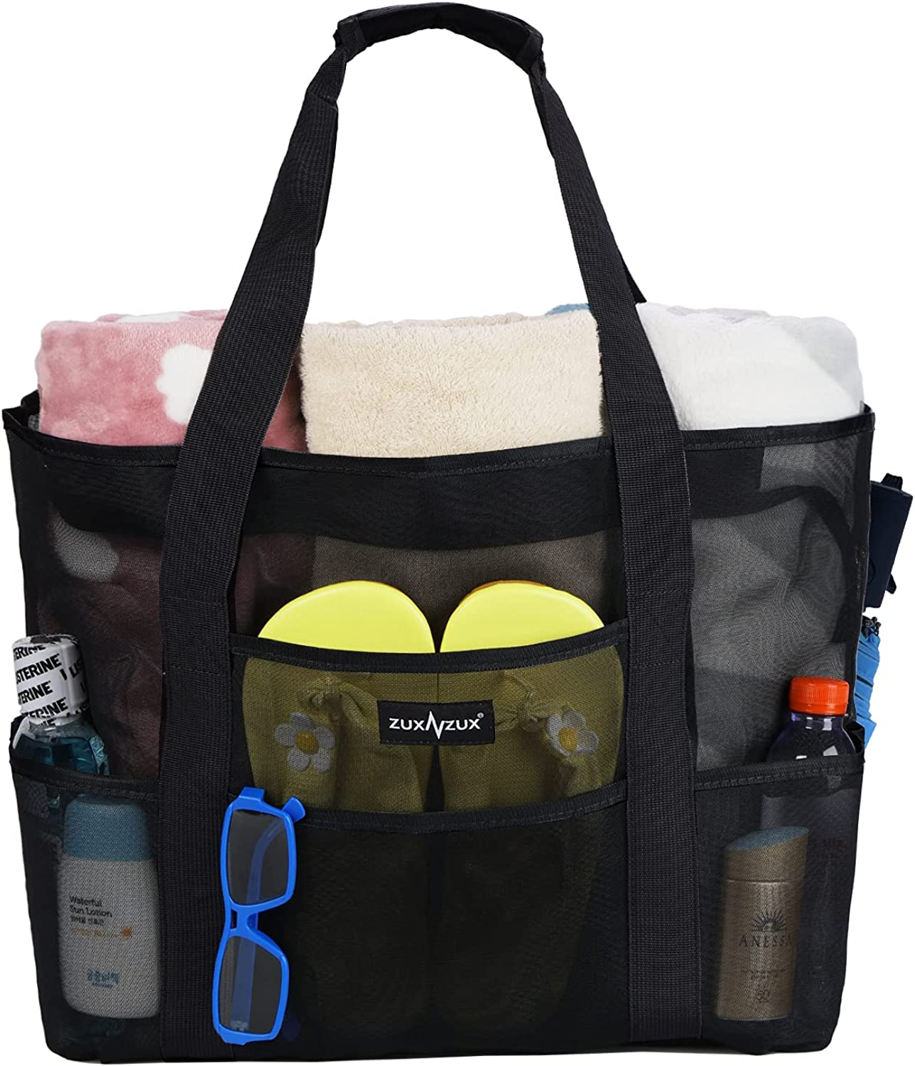 ZUXNZUX Beach Bag Max 82% OFF Mesh Lightwei Oversized Totes Toy Large-scale sale