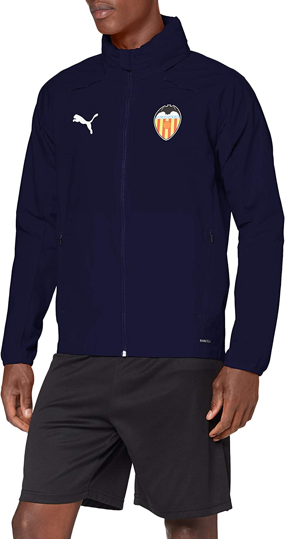 Unisex Adulto PUMA Valencia CF Temporada 2020//21-Rain Jacket Peacoat Chaqueta