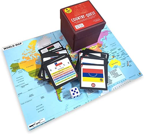 TNT Gaming Company Country Quest - Kids World Knowledge Card Game product image