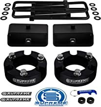 Supreme Suspensions - Full Lift Kit for 2005-2019 Toyota Tacoma Front Lift Strut Spacers + Rear Lift Tapered Blocks + Square Bend U-Bolts 2WD 4WD (Parent) (3