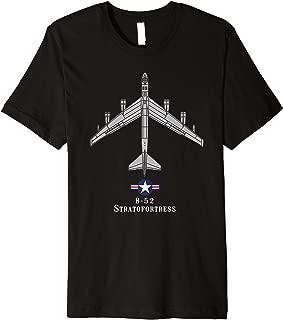 B-52 Stratofortress Tech Drawing Cold War Bomber Premium T-Shirt