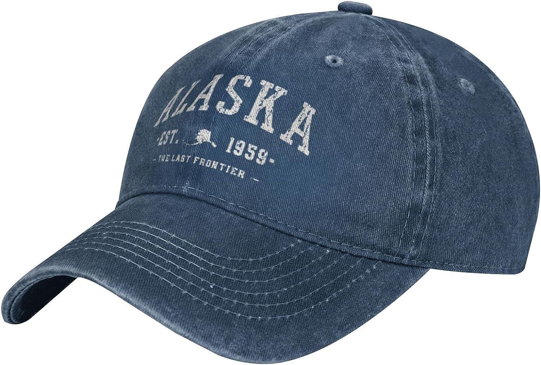 Alaska The Last Frontier Hoodie Alaska Est 1959 Mens Hats Baseball Cap Dad Hat Adjustable Women Outdoor Caps Sun Cowboy Hat