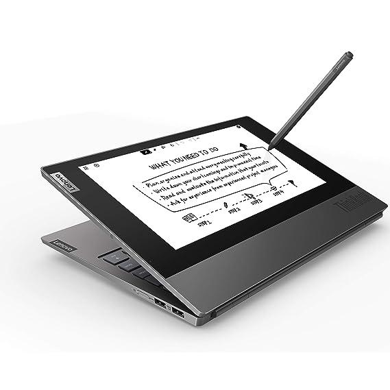 "Lenovo Thinkbook Plus Intel Core i5 10th Gen Dual Display 13.3 inch FHD Laptop (8GB RAM/ 512GB SSD/ 13.3"" FHD + 10.8"" FHD Monochromatic/ Windows 10 Professional/ Black/ 1.41 kg), 20TG004LIH"