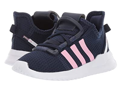 adidas Originals Kids U_Path Run (Toddler) (Navy/Light Pink/White) Girl