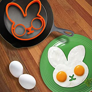 Corcrest(TM) new clown head Rabbit shaped silicone egg mold omelet Creativ fried egg mold ring fry egg cooking molds