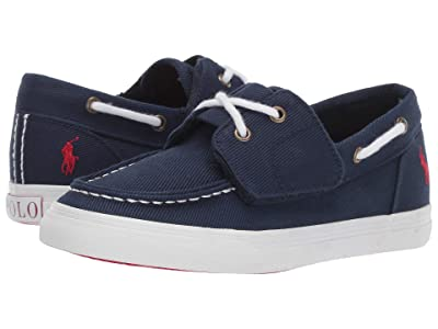 Polo Ralph Lauren Kids Bridgeport EZ (Little Kid) (Navy Heavy Twill/Red Pony) Kid