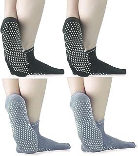 Non Slip Yoga Socks with Grips, Anti-Skid Pilates, Barre, Bikram Fitness Socks for Men and Women