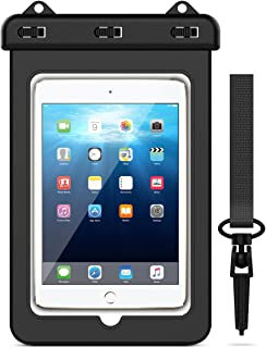 Huawei Mini 2//4//5 Pro 11//12.9 Xiaomi,Negro//Transparente Air 2//3 Tab S3//S2 Samsung Galaxy Tab 5//4//3 Yokata Funda Bolsa Impermeable Tablets IPX8 Universal Waterproof hasta 12.9 para iPad 2//3//4