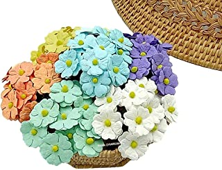 NAVA CHIANGMAI 60 pcs mixed Two Layer Mulberry Paper Flower 20 mm scrapbooking wedding doll house supplies card