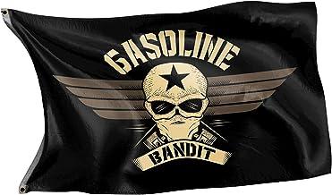 Gasoline Bandit Biker Racer Flagge für das Clubheim oder die Schrauber-Werkstatt