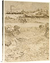 Global Gallery Budget GCS-454971-2432-142 Vincent Van Gogh Arles: View from The Wheatfields Gallery Wrap Giclee on Canvas Wall Art Print