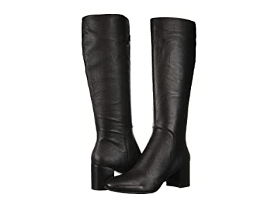Kenneth Cole New York Justin Mid Riding Boot (Black Leather) Women