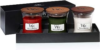 WoodWick set de regalo con velas perfumadas en tarro pequeño conjunto de 3