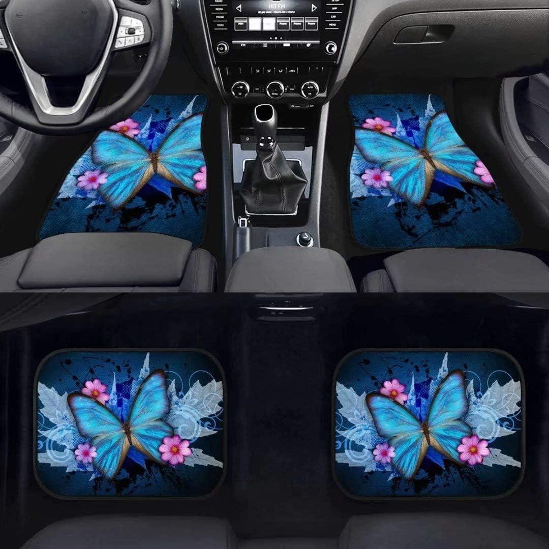 Van Truck SUV GOSTONG Trendy Red Dragon Car Seat Covers Front Vehicle Protector /& 4pcs Rubber Floor Mats Carpet Universal Fit Sedan